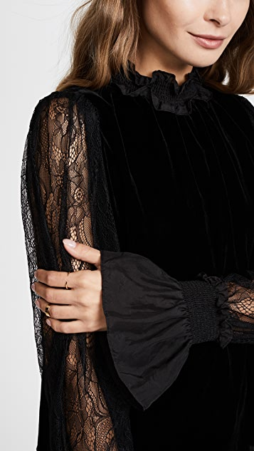 Clu Victorian Blouse with Lace