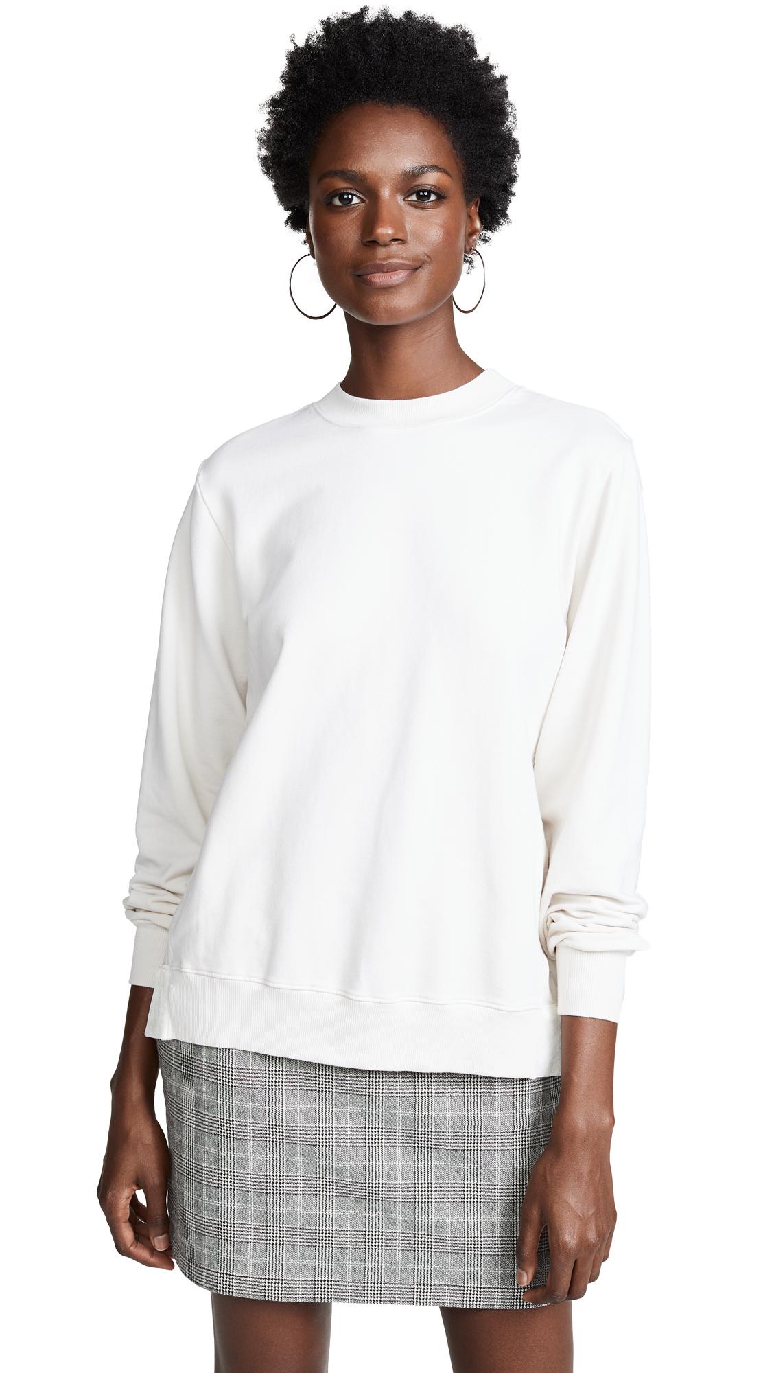 Clu Lace Trimmed Sweatshirt In Vanilla
