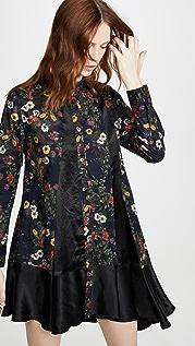 Clu Floral Paneled Shirt Dress