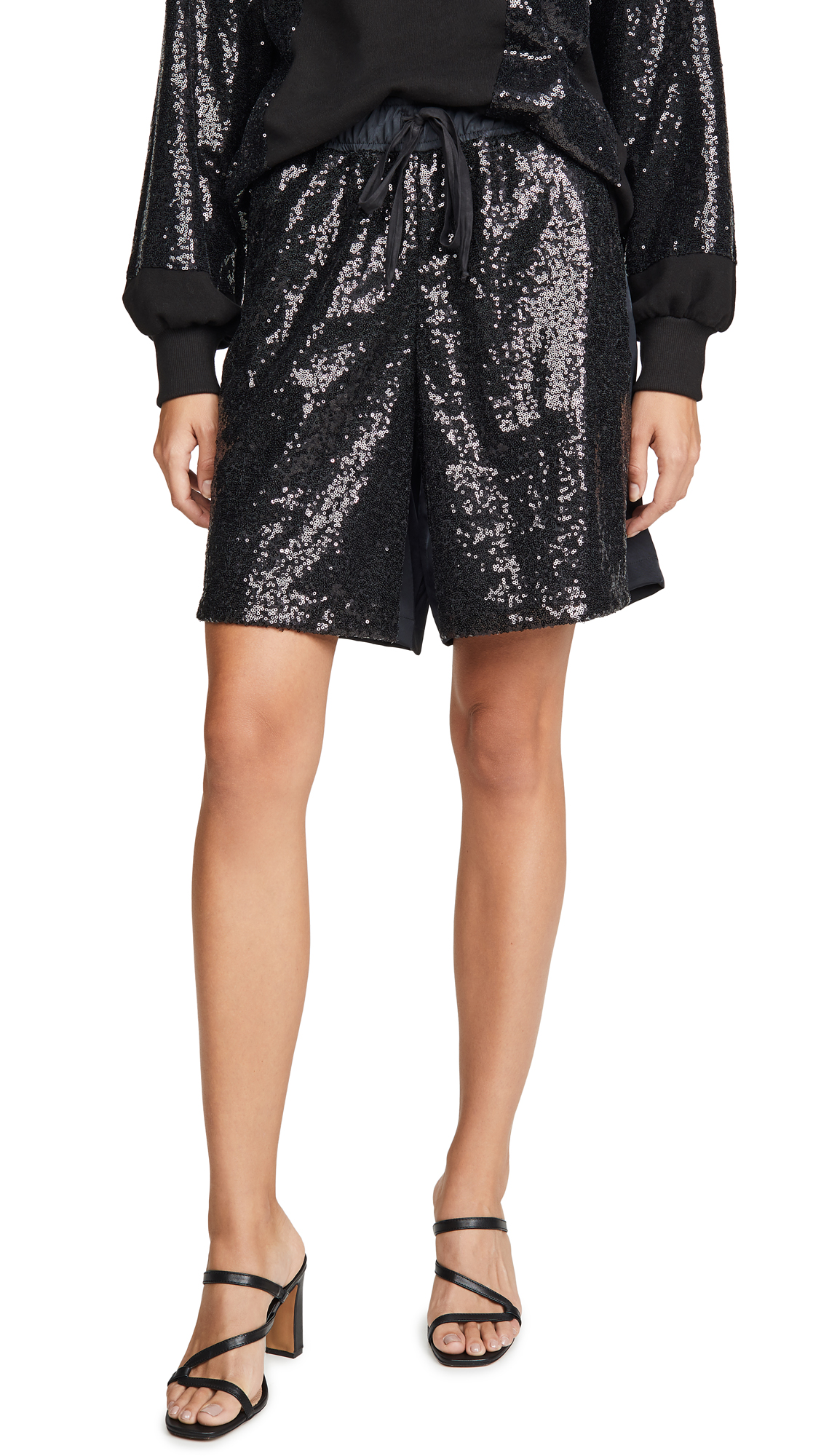 Buy Clu online - photo of Clu Sequin Paneled Shorts