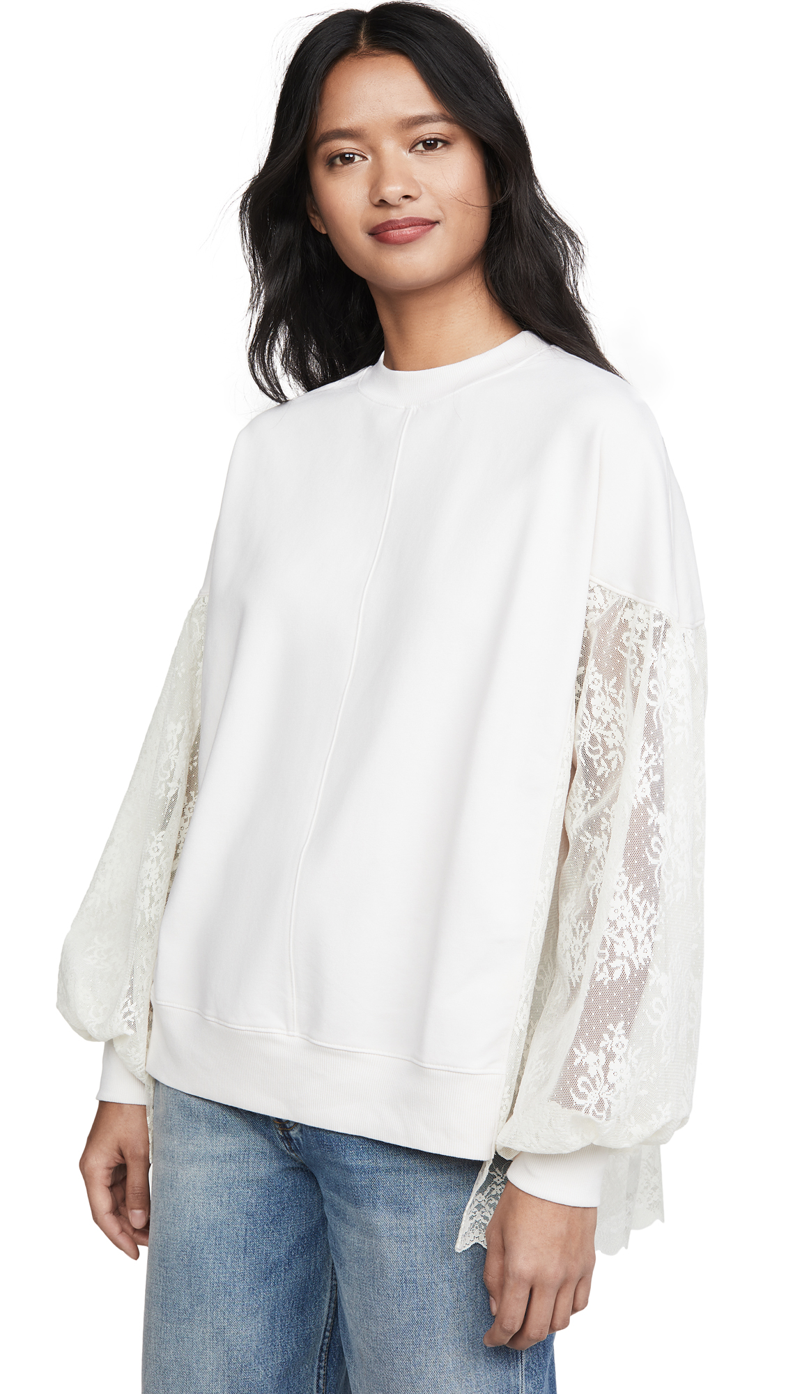 Buy Clu online - photo of Clu Poet's Pullover with Lace Sleeves