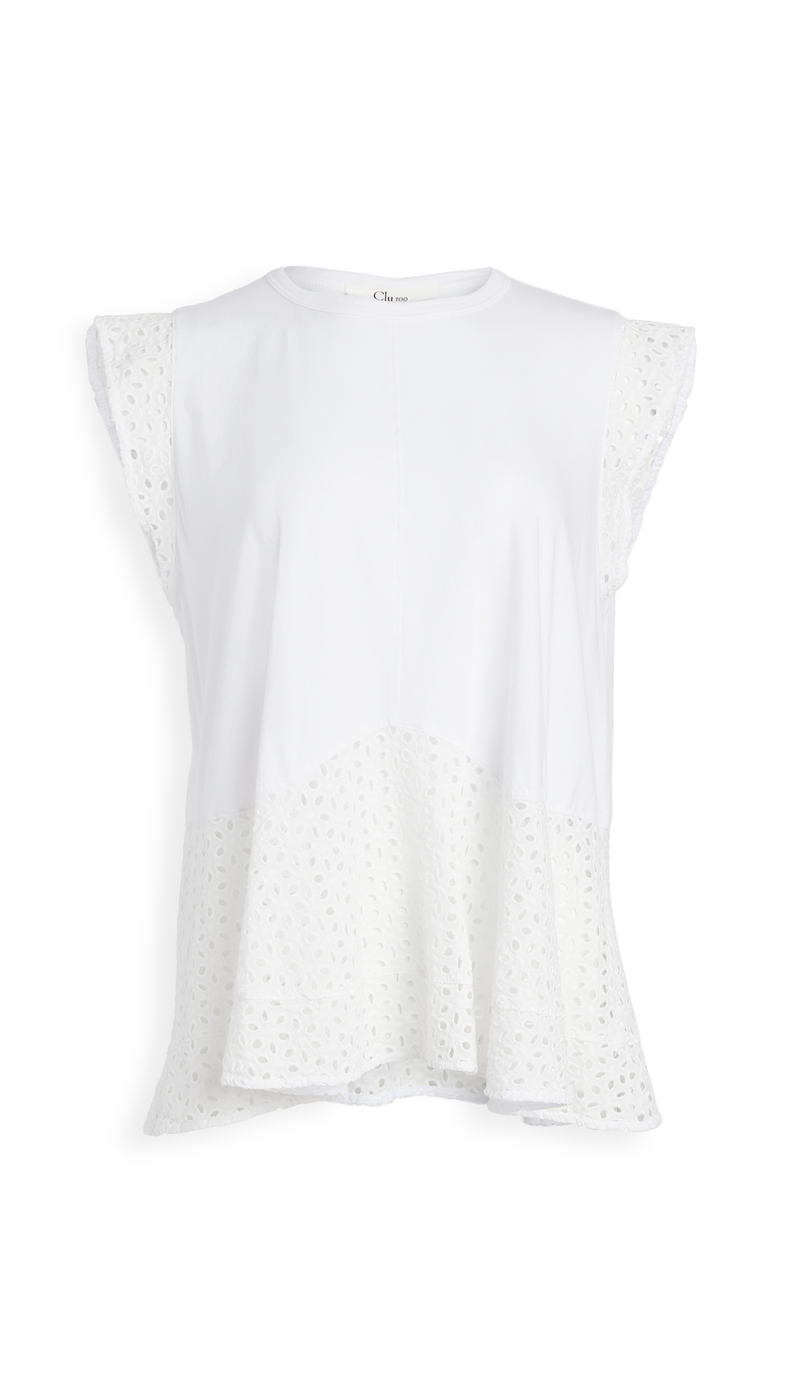 Clu Mix Media Paneled Top