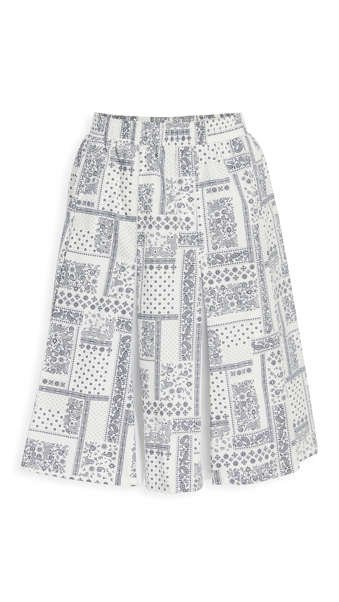 Clu Mix Media Paneled Skirt