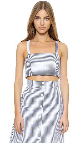 Club Monaco Stellha Top - Blue Stripe