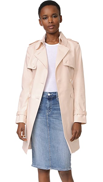 Club Monaco Farzin Trench Coat - Peach Blush