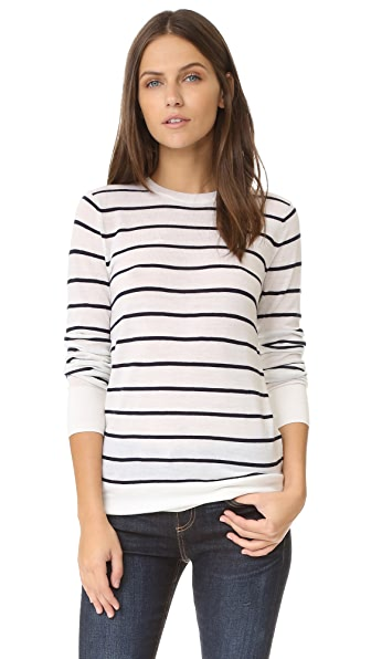 Club Monaco Mackenzie Sweater - White Stripe