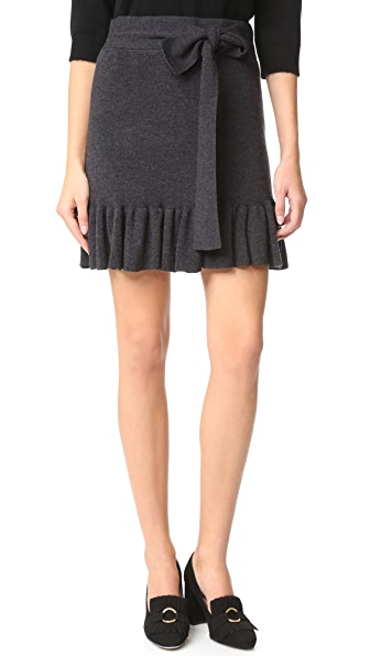 Club Monaco Estie Ruffle Hem Sweater Skirt