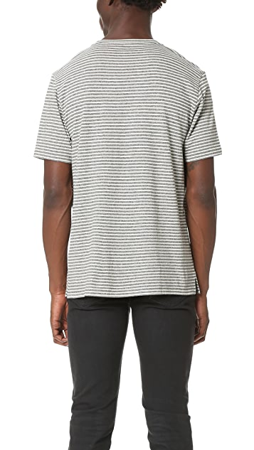 Club Monaco Striped Crew Neck Tee