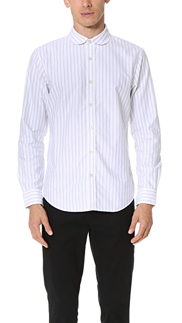 Club Monaco Striped Oxford Shirt