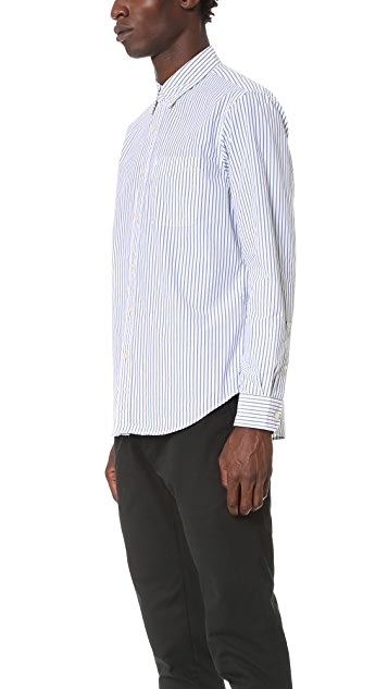 Club Monaco Striped Button Down Shirt