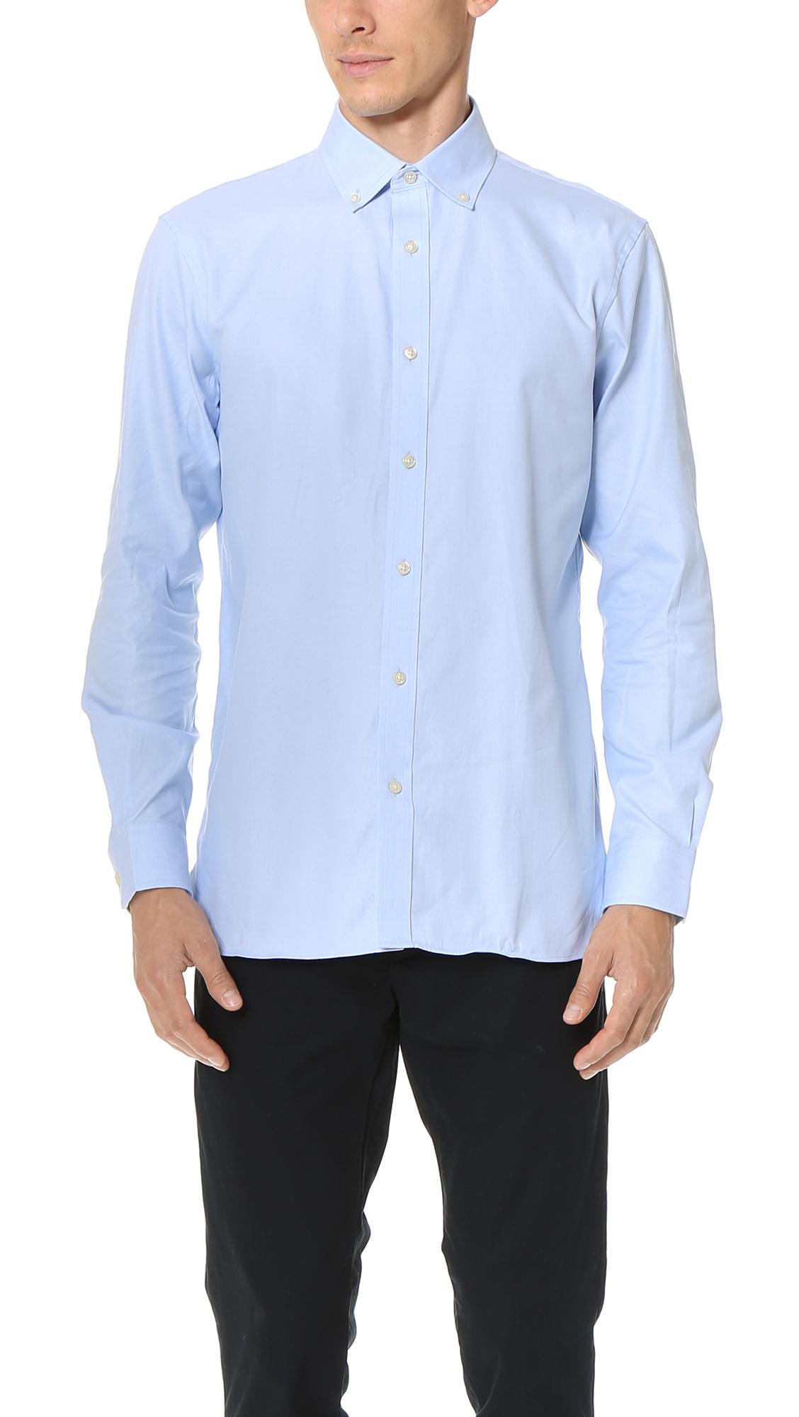fb5e1f3ce20 Club Monaco Slim Button Down Dress Oxford Shirt In Blue