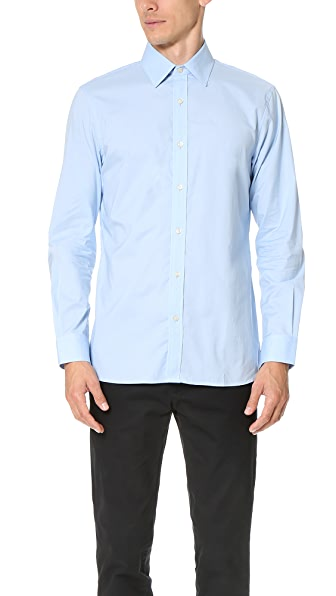 Club Monaco Slim Dress Poplin Shirt