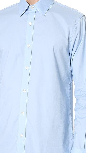 Club Monaco Slim Dress Poplin Shirt