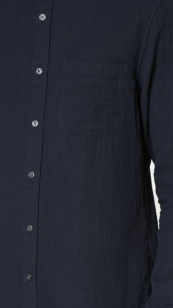 Club Monaco Slim Button Down Double Face Shirt