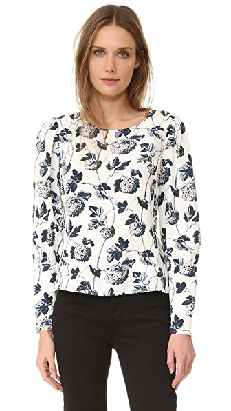 Club Monaco Etheline Printed Top - Wallpaper Floral Combo