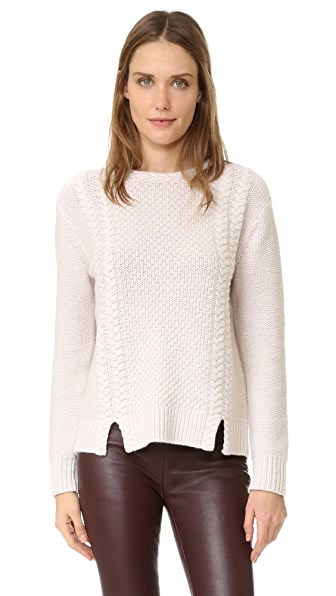 Club Monaco Roan Cashmere Sweater - Camel Multi