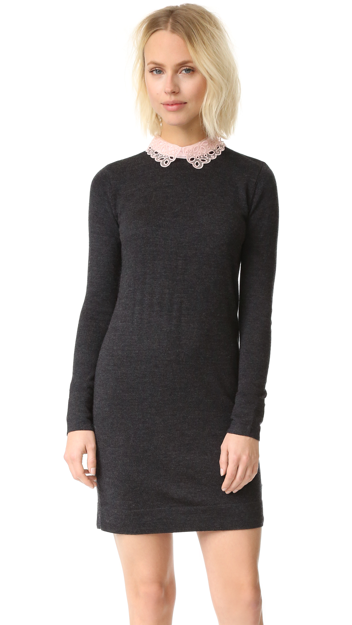 Club Monaco Lissah Lace Collar Sweater Dress Shopbop Save