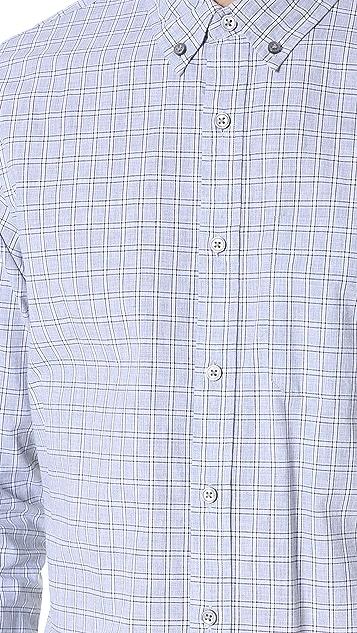 Club Monaco Slim Button Down Check Shirt