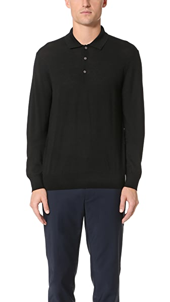 Club Monaco Long Sleeve Merino Polo Shirt