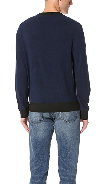 Club Monaco Synth Trim Crew Sweater