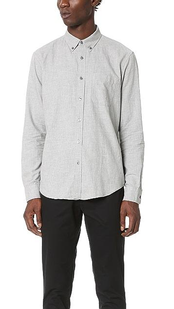 Club Monaco Slim Button Down Flannel Shirt