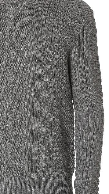 Club Monaco Merino Cable Crew Sweater