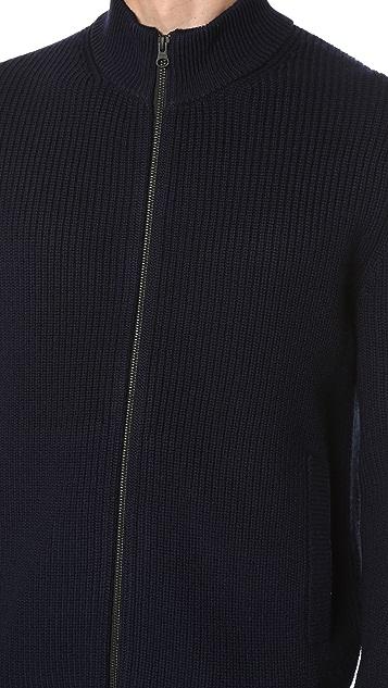Club Monaco Merino Rib Full Zip Cardigan