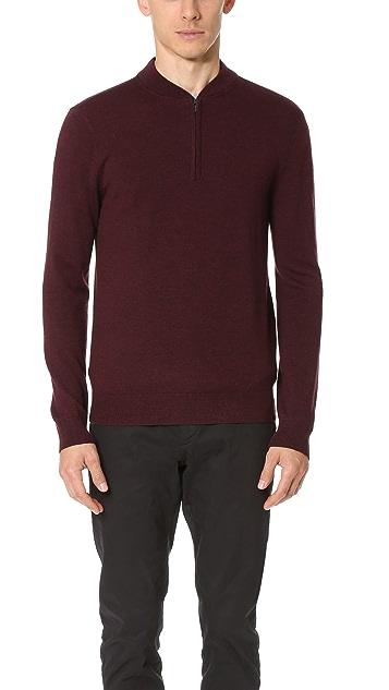 Club Monaco Merino Quarter Zip Sweater