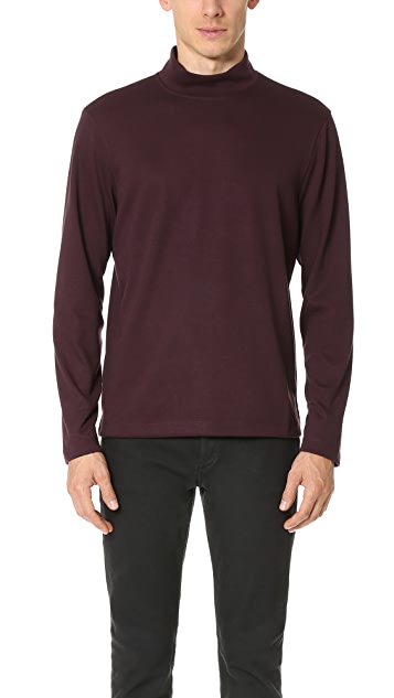 Club Monaco Ponte Mock Neck Long Sleeve Tee