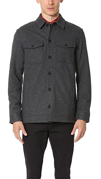 Club Monaco Brushed Wool Overshirt