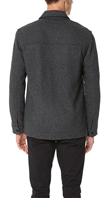 Club Monaco Brushed Wool Overshirt