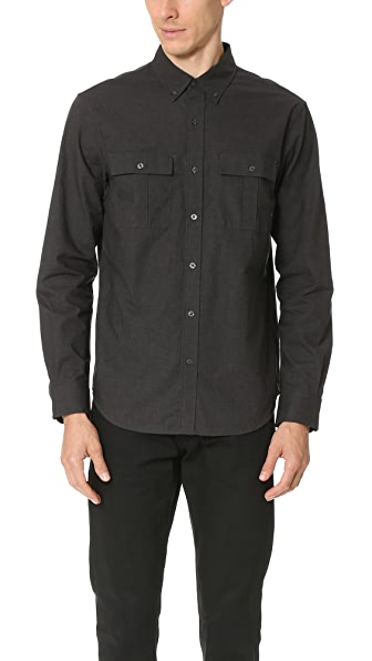 Club Monaco Slim Mini Collar Jaspe Shirt