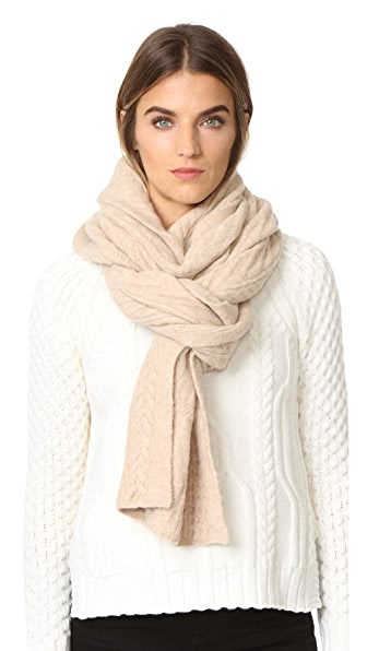 Club Monaco Adamaris Cable Scarf - Pale Oatmeal