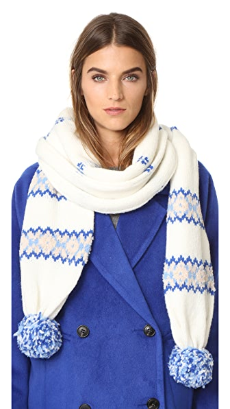 Club Monaco Kerioth Scarf - Fair Isle Multi