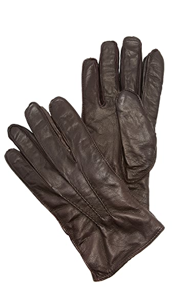 Club Monaco Washed Leather Gloves