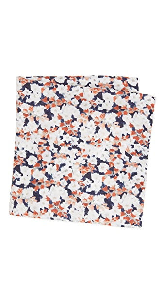 Club Monaco Dune Flower Pocket Square