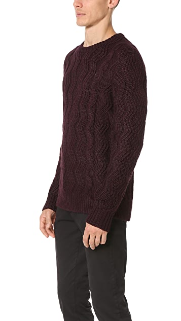 Club Monaco Alpaca Cable Sweater
