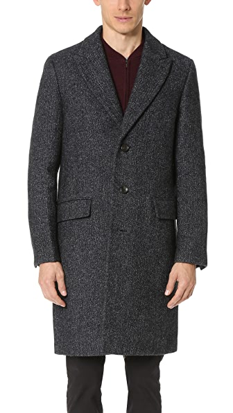 Club Monaco Tweed Topcoat