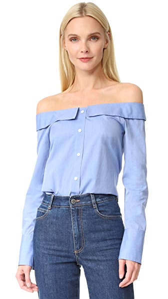 Club Monaco Jearim Top In French Blue