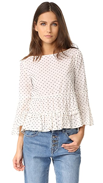 Club Monaco Peibi Top - Pure White Multi