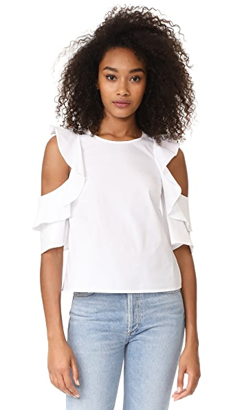 Club Monaco Hamisi Top In Blanc De Blanc
