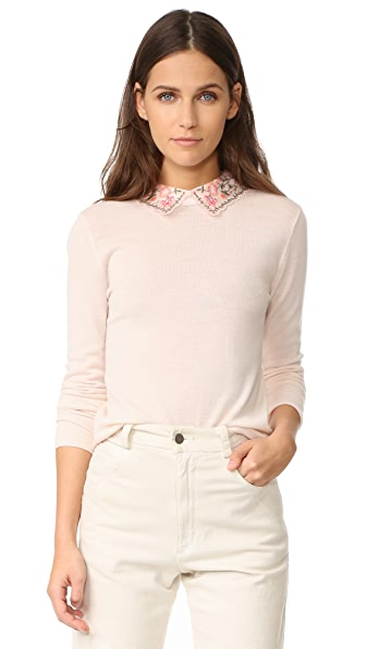 Club Monaco Kalani Collar Sweater - Foundation