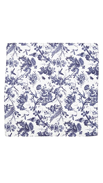 Club Monaco Botanical Garden Print Pocket Square
