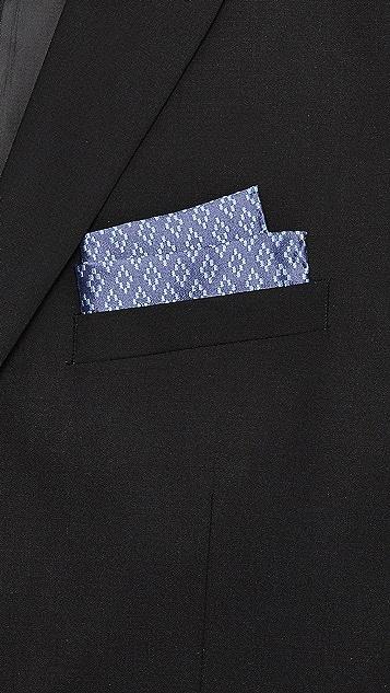 Club Monaco Diamond Weave Pocket Square