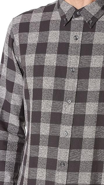 Club Monaco Slim Jaspe Check Shirt