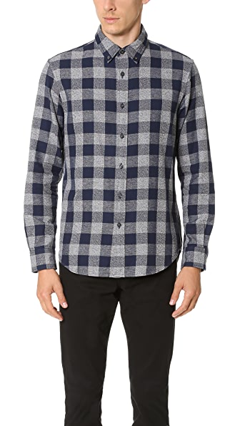 Club Monaco Slim Japspe Check Shirt