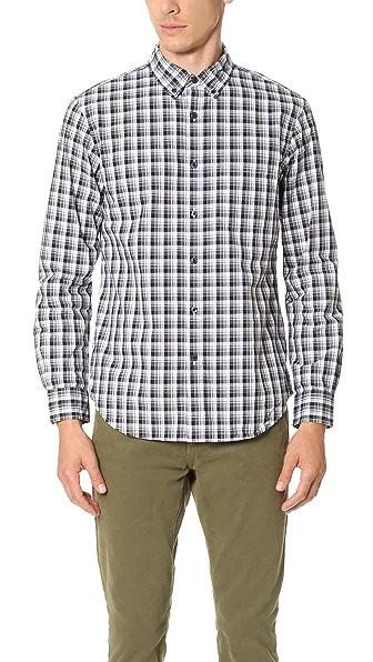 Club Monaco Slim Multi Plaid Shirt