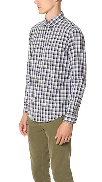 Club Monaco Slim Multi Plaid Shirt