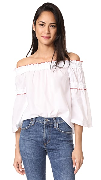 Club Monaco Boutone Top - Pure White