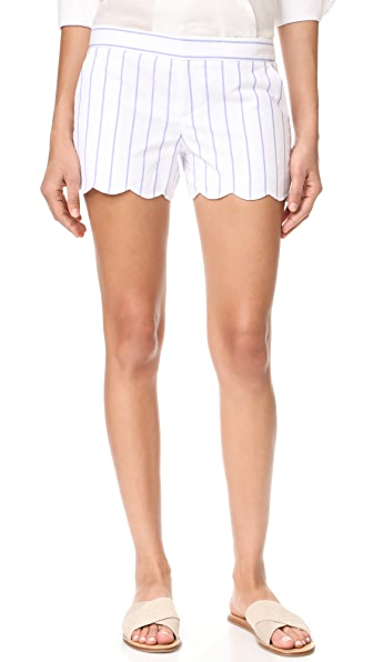Club Monaco Amber Shorts - Raj Blue Stripe